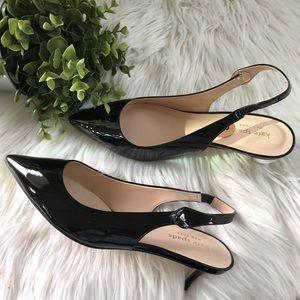 Kate Spade ♠️Black Patent Leather Kitten Heel